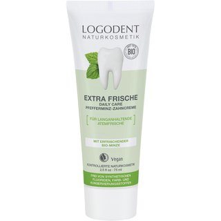 LOGODENT Extra Fresh daily care peppermint toothpaste 75ml