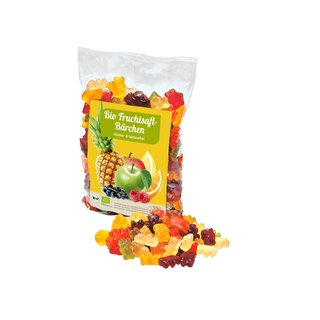 Memo Organic Fruit Juice Gummi Bears 500g