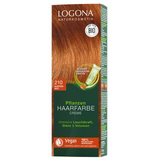 Logona Herbal Color Cream 210 copper red 150ml
