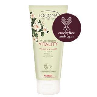 Logona Shower Gel Vitality Wild Rose & Grape 200ml