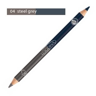 Logona Double Eyeliner Pencil No. 04 - steel grey 1.38g