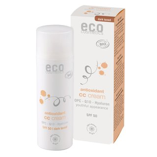 Eco CC Cream SPF 50 Dark Toned with OPC, Coenzyme Q10 and Hyaluronic Acid 50ml