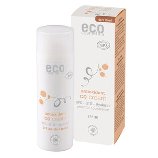 Eco CC Cream SPF 30 Dark Toned with OPC, Coenzyme Q10 and Hyaluronic Acid 50ml