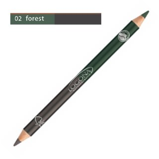 Logona Double Eyeliner Pencil No. 02 - forest 1.38g