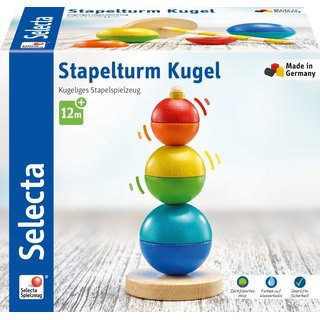 Selecta Motoric Toy Stacking Tower Sphere