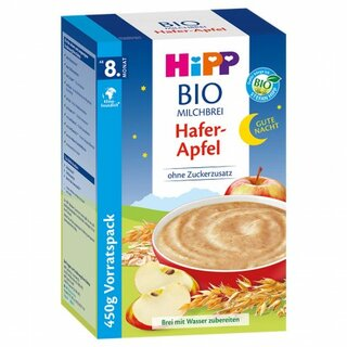 HiPP Organic Good-Night-Milk Porridge Oat-Apple 450g (15,87oz)