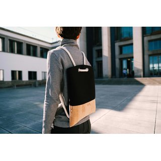 Ulstø Slim Backpack black natural 1Pc.