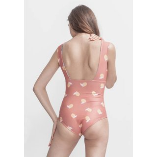 Boochen Swimsuit Newgale in Sakura/Lemon Print