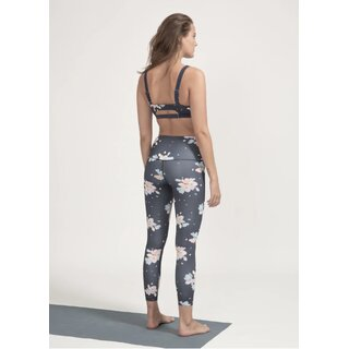 Boochen High-Waist Leggings in Dark Sakura Print