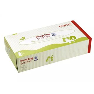 Memo Recycling Cosmetic Wipes Extra Soft 2-Layers 100Pc.