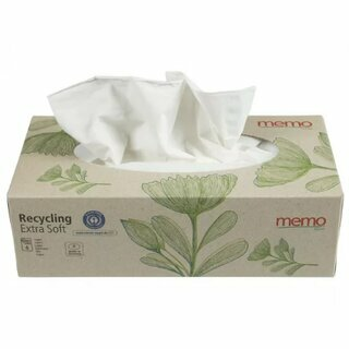 Memo Recycling Handkerchiefs Extra Soft 4-Layers 100Pc.