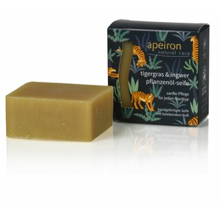 Apeiron Tiger Grass & Ginger Plant Oil Soap 100g