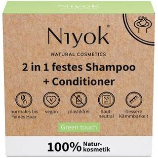 Niyok 2 in1 Solid Shampoo & Conditioner Green Touch 80g
