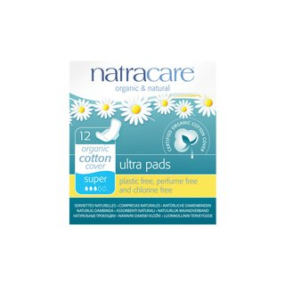 Natracare Ultra Pad Super with Wings 12St.